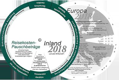 Ablesescheibe Reisekosten Inland-Europa